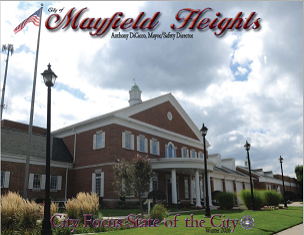 City Publication Cover featuring City Hall with link to State of the City 2015
